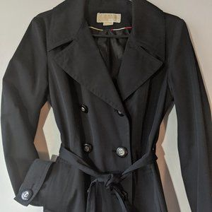 Michael Kors Light Trench or Rain Coat Black Sz M